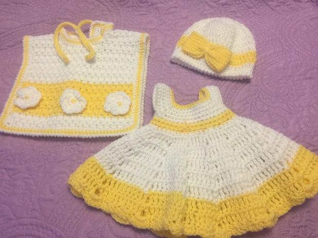Crochet Baby Dress Sets